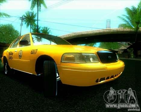 Ford Crown Victoria 2003 TAXI pour GTA San Andreas laissé vue