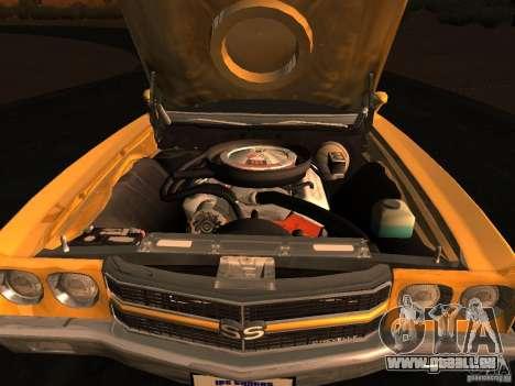 Chevrolet Chevelle SS 1970 v.2.0 pjp1 pour GTA San Andreas sur la vue arrière gauche
