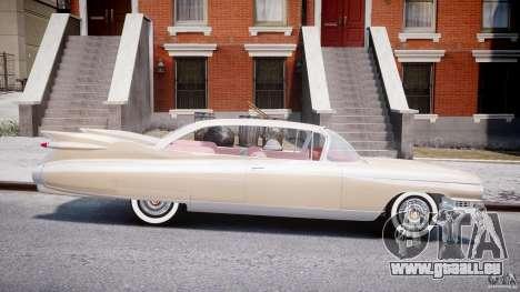 Cadillac Eldorado 1959 (Lowered) pour GTA 4 est une vue de l'intérieur