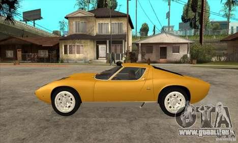 Lamborghini Miura 1966 für GTA San Andreas linke Ansicht