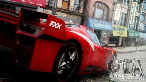 Ferrari FXX Evoluzione pour GTA 4 est un droit