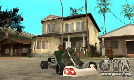 Stage 6 Kart Beta v1.0 für GTA San Andreas Rückansicht
