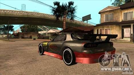 Mazda RX7 Tuned für GTA San Andreas zurück linke Ansicht