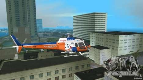 Eurocopter As-350 TV Neptun pour GTA Vice City vue arrière