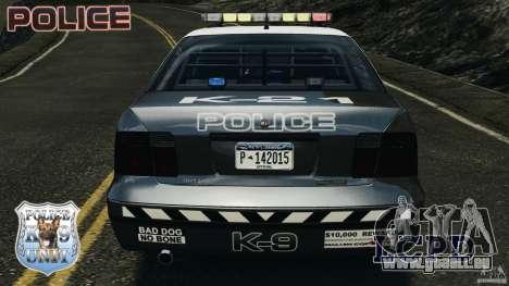 LCPD K9 Unit pour GTA 4 est une vue de dessous