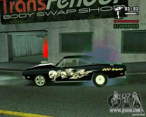 Dodge Charger R/T 69 pour GTA San Andreas laissé vue