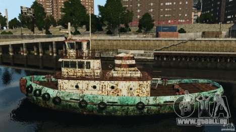 Realistic Rusty Tugboat für GTA 4 linke Ansicht