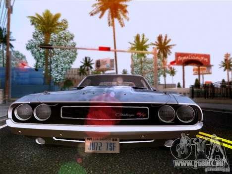Dodge Challenger HEMI für GTA San Andreas Innenansicht