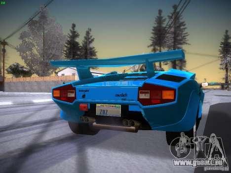 Lamborghini Countach LP5000 pour GTA San Andreas sur la vue arrière gauche