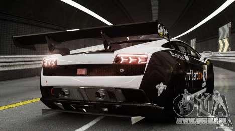 Lamborghini Gallardo LP560-4 GT3 2010 pour GTA 4 Vue arrière de la gauche