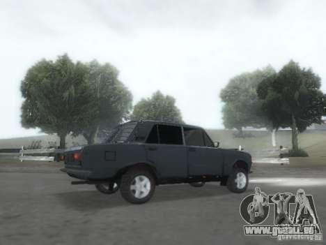 VAZ 2101 pour GTA San Andreas vue de dessous