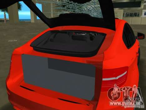 BMW X6M pour une vue GTA Vice City de la gauche