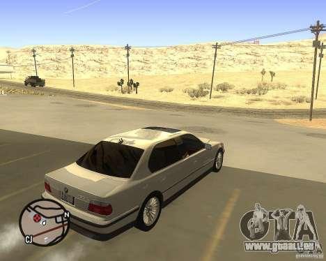 BMW 750il Limuzin für GTA San Andreas zurück linke Ansicht