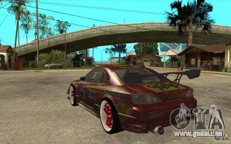 Nissan Silvia HKS Genki pour GTA San Andreas sur la vue arrière gauche