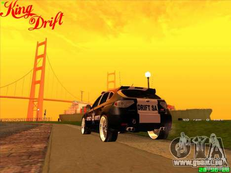 Subaru Impreza WRX Police für GTA San Andreas linke Ansicht