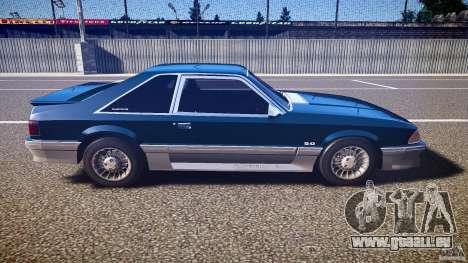 Ford Mustang GT 1993 Rims 1 pour GTA 4 est une vue de l'intérieur