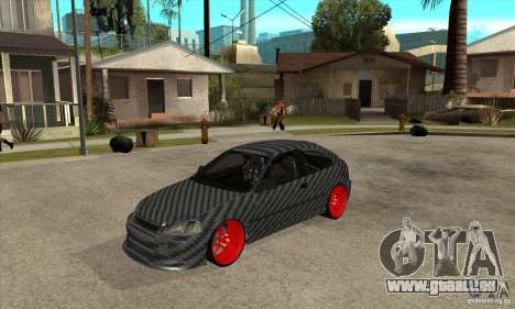 Honda Civic Carbon Latvian Skin pour GTA San Andreas laissé vue
