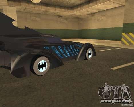 Batmobile 1995 pour GTA San Andreas vue de droite
