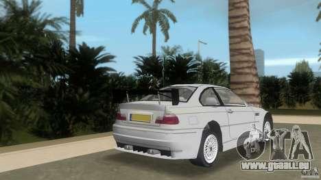 BMW M3 pour GTA Vice City sur la vue arrière gauche
