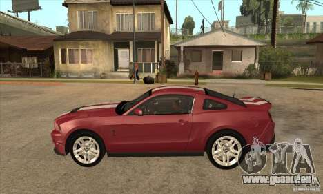 Shelby GT500 2010 pour GTA San Andreas laissé vue