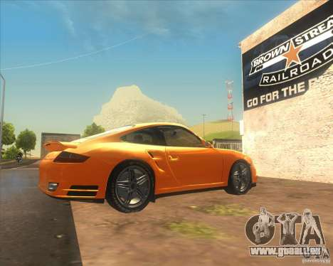 Porsche 911 Turbo (997) 2007 pour GTA San Andreas laissé vue