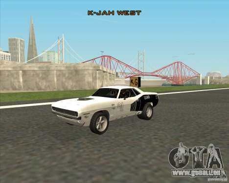 Plymouth Hemi Cuda Rogue pour GTA San Andreas vue de droite
