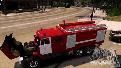 ZIL 433474 pompier pour GTA 4 Vue arrière de la gauche