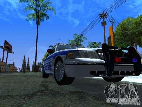 Ford Crown Victoria Police Interceptor 2008 pour GTA San Andreas laissé vue