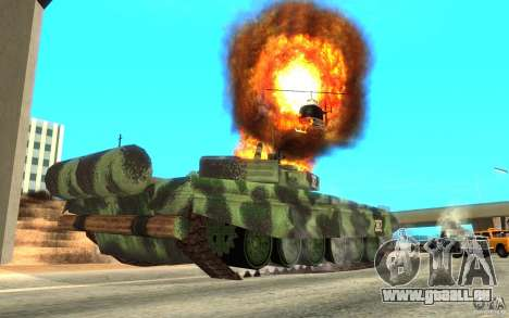 Char T-72 pour GTA San Andreas vue arrière