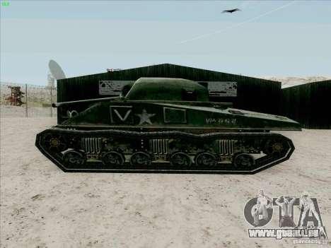 Sherman pour GTA San Andreas sur la vue arrière gauche