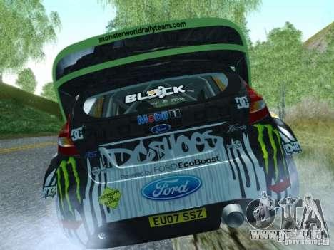 Ford Fiesta Ken Block Dirt 3 für GTA San Andreas zurück linke Ansicht