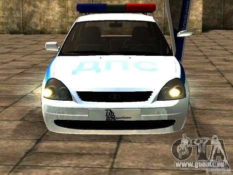 LADA 2170 Police pour GTA San Andreas laissé vue