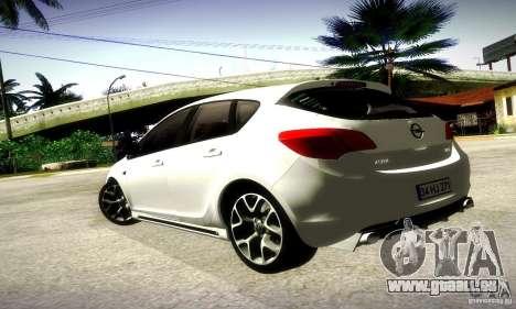 Opel Astra Senner pour GTA San Andreas sur la vue arrière gauche