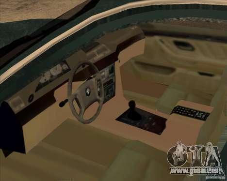 BMW 750iL pour GTA San Andreas vue intérieure