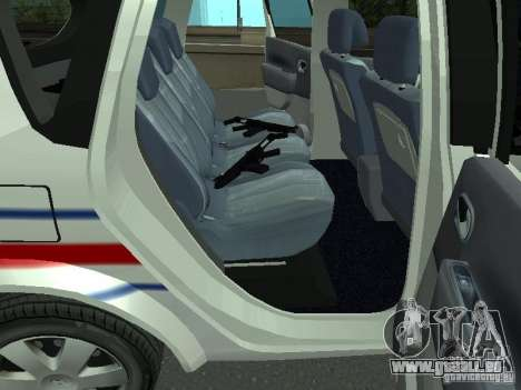 Renault Scenic II Police für GTA San Andreas Rückansicht