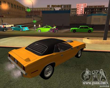 Plymouth Barracuda pour GTA San Andreas sur la vue arrière gauche