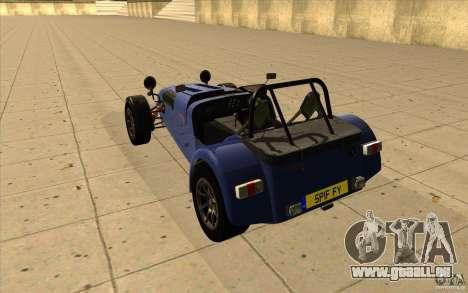 Caterham Superlight R500 für GTA San Andreas zurück linke Ansicht