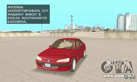 Peugeot 406 stock pour GTA San Andreas