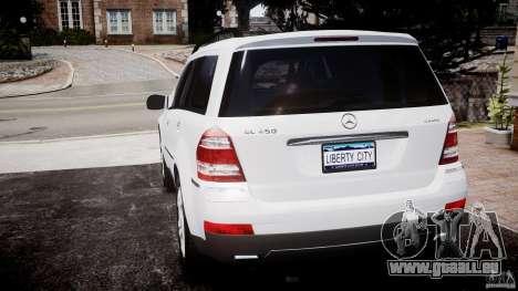 Mercedes-Benz GL450 pour GTA 4 Vue arrière de la gauche