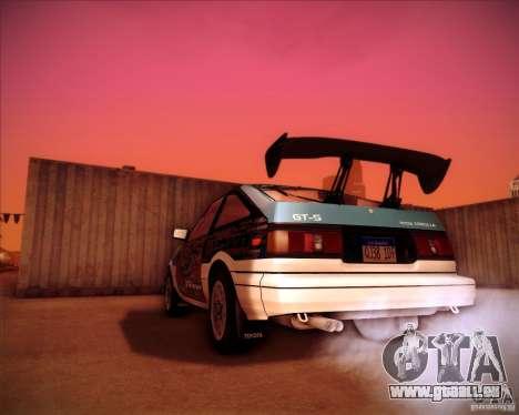Toyota Corolla AE86 StreetAttack pour GTA San Andreas laissé vue