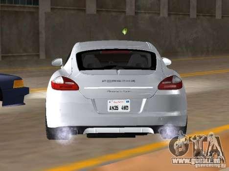Porsche Panamera Turbo Tunable pour GTA San Andreas sur la vue arrière gauche