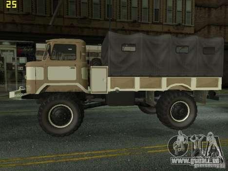 GAZ 66 Parade pour GTA San Andreas sur la vue arrière gauche