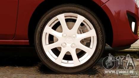 Mazda 2 2011 pour GTA 4 vue de dessus