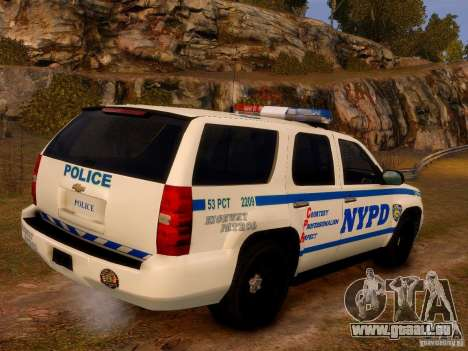Chevrolet Tahoe New York Police pour GTA 4 est une gauche