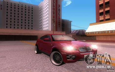 BMW X6 Tuning pour GTA San Andreas sur la vue arrière gauche