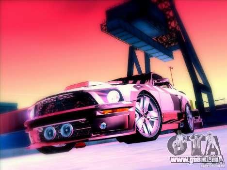 Ford Mustang Eleanor Prototype für GTA San Andreas Innenansicht