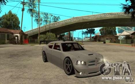 Dodge Charger 2009 pour GTA San Andreas vue arrière
