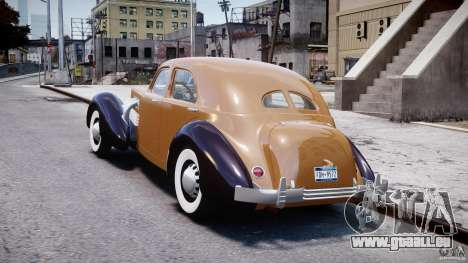 Cord 812 Charged Beverly Sedan 1937 pour GTA 4 Vue arrière de la gauche