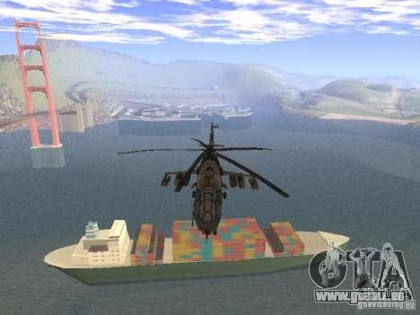 Mil Mi-24 von COD MW 2 für GTA San Andreas Rückansicht