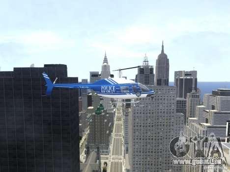 Bell 206 B - NYPD pour GTA 4 est une vue de l'intérieur
